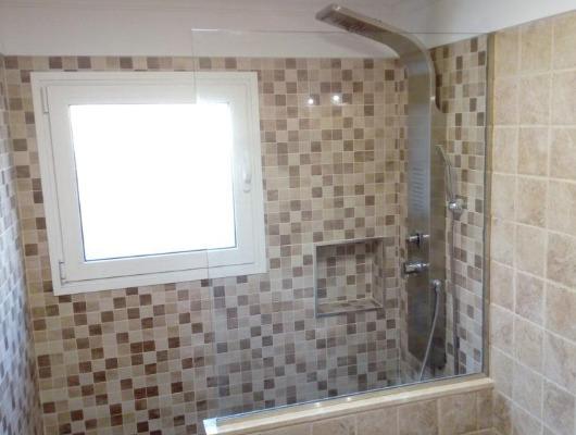 reforma de baño con ducha de obra en Tenerife